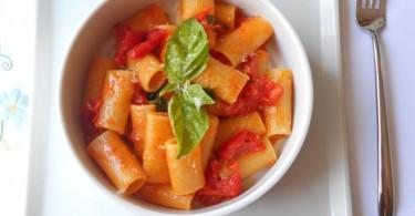 Rigatoni di Gragnano con pomodorino fresco